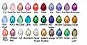 Tear Drop Color Chart
