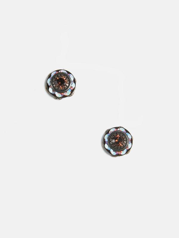Clara Beau Simply Elegant Small Rhondel Swarovski Crystal Drop Earrings E551