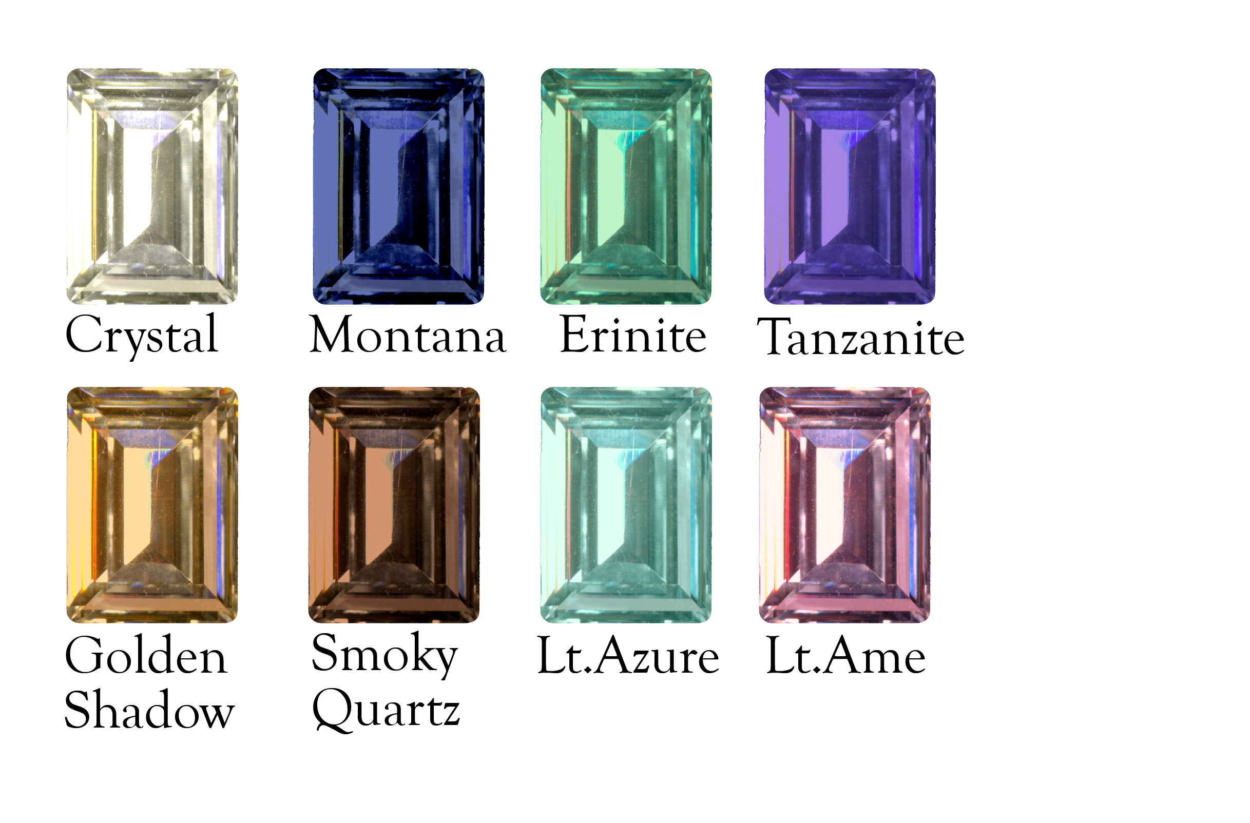 Exquisite large rectangle swarovski crystal accented necklace n9e487 rectangle color chart nvjuhfo Choice Image