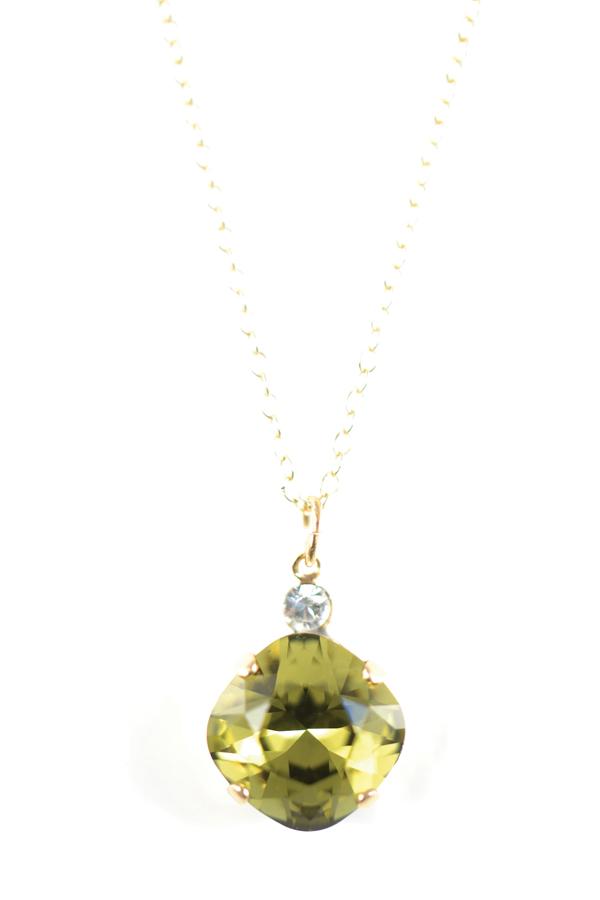 616230fc9e859f Clara Beau Simply Elegant Swarovski 12mm Fancy Square crystal Necklace  N9E482