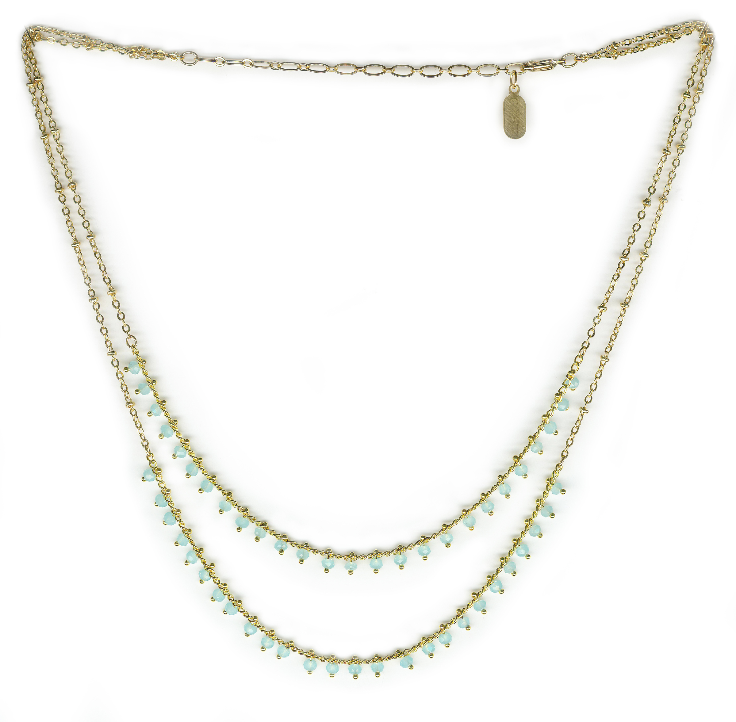 double portobello tier stone clear road necklace sa products