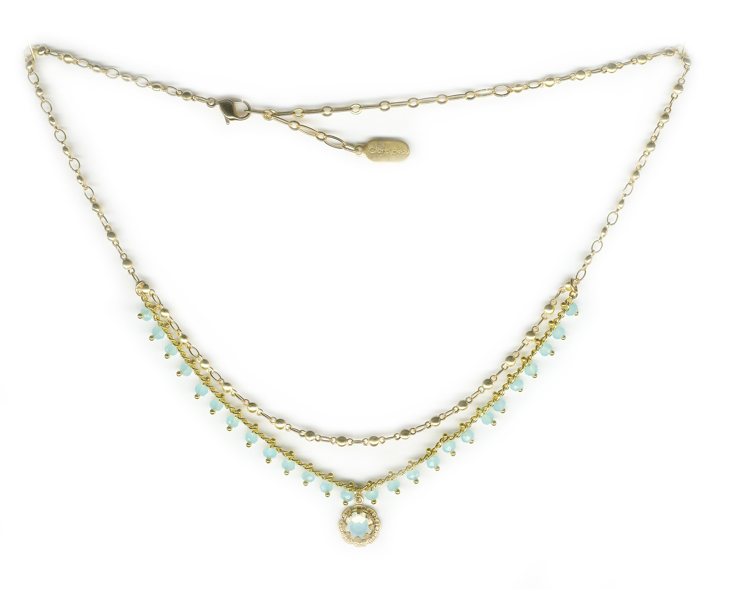 semi pin lariat necklace tier features style multi gorgeous layered one three rosary in