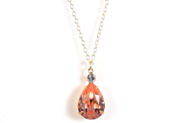 Clara Beau Lovely Tear Drop Swarovski crystal accented Necklace N9E974