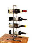 Stand #500 4 Bottle Raw Cold Rolled Steel Counter top Wine Rack