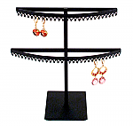 Stand#2 - Two tier earring display stand, Crown molding.