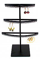 Stand#1 - Three tier earring display stand, Crown molding.