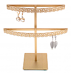 Stand#2 - Two tier earring display stand, Flower molding.