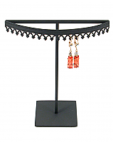 Stand#21mini - One tier earring display stand, Crown molding.